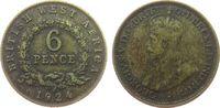 6 Pence 1924 Britisch West Afrika ZnBr Georg V, H fast ss  30,00 EUR  zzgl. 3,95 EUR Versand