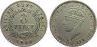 3 Pence 1944 Britisch West Afrika KN Georg VI, KN ss  2,50 EUR  zzgl. 3,95 EUR Versand