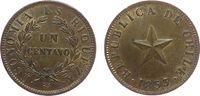 1 Centavo 1853 Chile Ku Stern, Kehrprägung - coin rotation vz  30,00 EUR  zzgl. 3,95 EUR Versand