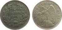 5 Centavos 1915 Chile Ag Condor ss  3,25 EUR  zzgl. 3,95 EUR Versand