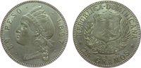 1 Peso 1897 Dominikanische Republik Ag Indianerin, Prägeschwäche, feine... 250,00 EUR kostenloser Versand