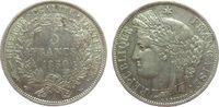 5 Francs 1850 Frankreich Ag Ceres, A (Paris), hübsch vz  75,00 EUR  zzgl. 6,00 EUR Versand