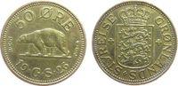 50 Öre 1926 Grönland AlBr Eisbär, Siegs 3, etwas geputzt ss  17,50 EUR  zzgl. 3,95 EUR Versand