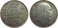 1 Rupie 1905 Britisch Indien Ag Edward VII, C (Calcutta) ss+  25,00 EUR  zzgl. 3,95 EUR Versand