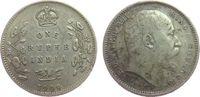 1 Rupie 1909 Britisch Indien Ag Edward VII,  C (Calcutta) ss  20,00 EUR  zzgl. 3,95 EUR Versand