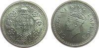 1 Rupie 1944 Britisch Indien Ag Georg VI, B (Bombay), Rollierfehler im ... 22,50 EUR  zzgl. 3,95 EUR Versand