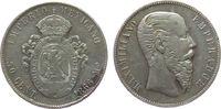 50 Centavos 1866 Mexiko Ag Maximilian, Mo (Mexico City), kleine Randstö... 85,00 EUR  zzgl. 6,00 EUR Versand