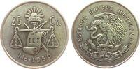 25 Centavos 1950 Mexiko Ag Waage ss  2,50 EUR  zzgl. 3,95 EUR Versand