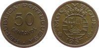 50 Centavos 1957 Mosambik Br Wappen vz  3,00 EUR  zzgl. 3,95 EUR Versand