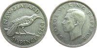 6 Pence 1946 Neuseeland Ag Georg VI ss  3,50 EUR  zzgl. 3,95 EUR Versand