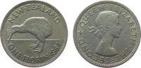 1 Florin 1964 Neuseeland KN Elisabeth II, Kiwi ss  2,50 EUR  zzgl. 3,95 EUR Versand