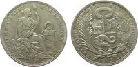 1 Sol 1923 Peru Ag Republik fast vz  45,00 EUR  zzgl. 3,95 EUR Versand
