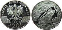 20 Zlotych 1998 Polen Ag Kreuzkröte, minimal angelaufen pp  65,00 EUR  zzgl. 6,00 EUR Versand