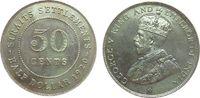 50 Cents 1920 Straits Settlements Ag Georg V vz  25,00 EUR  zzgl. 3,95 EUR Versand