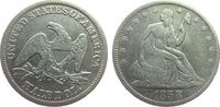 1/2 Dollar 1858 USA Ag Seated Liberty, gereinigt fast ss  45,00 EUR  zzgl. 3,95 EUR Versand