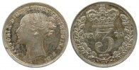 3 Pence 1870 Großbritannien Ag Victoria, Prägeschwäche, Stempelriß vz+ ... 105,00 EUR  zzgl. 6,00 EUR Versand