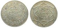 10 Dirhams 1911 Marokko Ag AH1329, Gad.57, Mulai Hafid vz  60,00 EUR  zzgl. 6,00 EUR Versand
