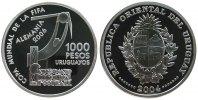 1000 Pesos 2004 Uruguay Ag Torwart vor Plakat, Fußballweltmeisterschaft... 45,00 EUR  zzgl. 3,95 EUR Versand