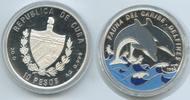 10 Pesos 1994 Kuba M#3614 Delphine Fauna del Caribe Silber PROOF  32,00 EUR