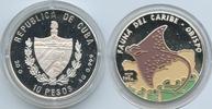 10 Pesos 1994 Kuba M#3616 Rochen Fauna del Caribe Silber Farbauflage PR... 32,00 EUR
