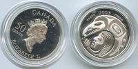 50 Cents 2003 Kanada M#3484 - Festival Yukon Silber Proof  12,00 EUR