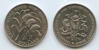 4 Dollars 1970 Barbados M#3624 FAO Karibik Zuckerrohr & Bananen unc  13,00 EUR