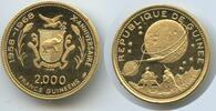 2000 Francs 1969 Guinea M#0005 Gold Mondlandung Polierte Platte - feine... 450,00 EUR