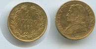 1 Scudo 1861-XV Vatikan M#3361 Gold Papst Pius IX. Rom Sehr schön - kle... 340,00 EUR  zzgl. 4,50 EUR Versand