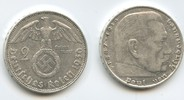 2 Reichsmark 1936 D Drittes Reich M#3018 Hindenburg Silber sehr schön  12,00 EUR  zzgl. 4,00 EUR Versand