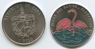 1 Peso 1994 Kuba M#3476 Fauna der Karibik Flamingos Farbmünze Unzirkuli... 8,00 EUR  zzgl. 4,00 EUR Versand