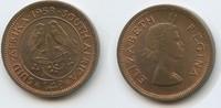 1 Farthing (¼ Penny) 1958 Südafrika M#3631 Elizabeth II. Vorzüglich  4,00 EUR  zzgl. 4,00 EUR Versand