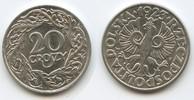20 Groszy 1923 Polen Republik M#3542 Vorzüglich - Unzirkuliert  5,00 EUR  zzgl. 4,00 EUR Versand