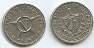 5 Centavos 1961 Kuba M#5042 fast Vorzüglich  3,00 EUR  zzgl. 4,00 EUR Versand