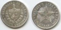20 Centavos 1948 Kuba M#5058 Sehr schön +  12,00 EUR  zzgl. 4,00 EUR Versand