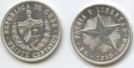 20 Centavos 1949 Kuba M#5059 Vorzüglich  14,00 EUR  zzgl. 4,00 EUR Versand