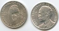 20 Centavos 1953 Kuba M#5060 Centenario de Marti 1853 - 1953 Silber Vor... 12,50 EUR  zzgl. 4,00 EUR Versand