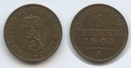 1 Pfennig 1864 A Reuss Obergreiz - Ältere Linie M#3555 - Heinrich XXII.... 12,00 EUR  zzgl. 4,00 EUR Versand
