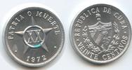 20 Centavos 1972 Kuba M#5047 Unzirkuliert  4,50 EUR  zzgl. 4,00 EUR Versand
