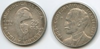 20 Centavos 1953 Kuba M#5071 Centenario de Marti 1853 - 1953 Silber Seh... 10,00 EUR  zzgl. 4,00 EUR Versand