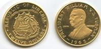 12 Dollars Gold 1965 Liberia M#3373 - 70. Geburtstag Präsident Tubman -... 340,00 EUR  zzgl. 4,50 EUR Versand
