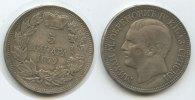 5 Dinara 1879 Serbien M#3387 Milan Obrenovich IV. 1868-1889 sehr schön  95,00 EUR  zzgl. 4,00 EUR Versand