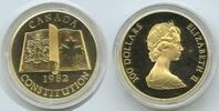 Kanada Canada 100 Dollars 1982 Proof PP M#3352 - NEW CONSTITUTION - Gold... 650,00 EUR