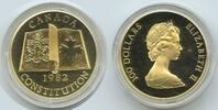 100 Dollars 1982 Kanada Canada M#3352 - NEW CONSTITUTION - Gold 1/2 Unz... 750,00 EUR kostenloser Versand