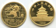 China 25 Yuan 1/4 Oz Gold 1989 ss feine Kratzer M#3378 - China Panda 25 ... 325,00 EUR