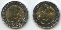 500 Lire Bimetall 1997 San Marino M#3110 - The Arts Musica SEHR RAR Auf... 60,00 EUR  zzgl. 4,00 EUR Versand