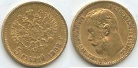 5 Rubel 1898 Russland M#3350 Gold Nicholas II.1894-1917 ss  190,00 EUR