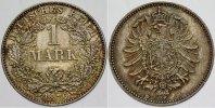1 Mark 1876 D Kleinmünzen  Schöne Patina, fast Stempelglanz  400,00 EUR