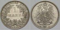 1 Mark 1882 A Kleinmünzen  Schöne Patina, Stempelglanz  355,00 EUR kostenloser Versand