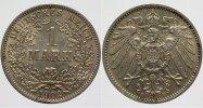 1 Mark 1902 E Kleinmünzen  fast Stempelglanz  230,00 EUR