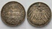 1 Mark 1905 J Kleinmünzen  dunkle Patina, Stempelglanz  475,00 EUR kostenloser Versand